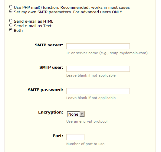 Configurare SMTP Prestashop